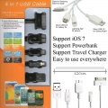 4 in 1 USB Data Cable Sync and Charge