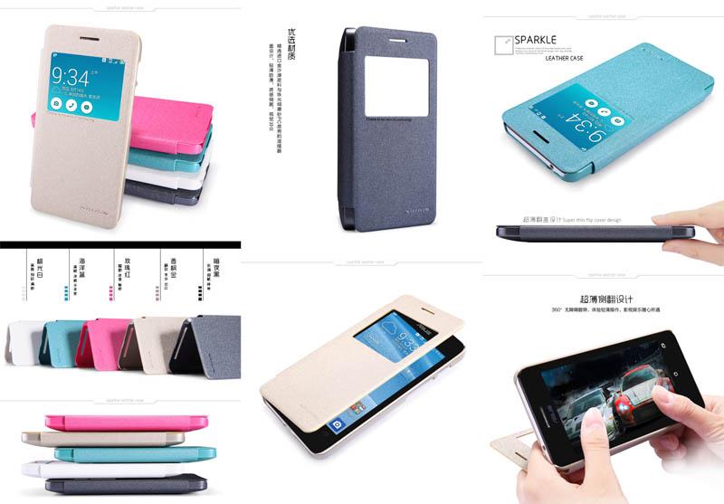 Nillkin Sparkle Leather Case Asus Zenfone 4S