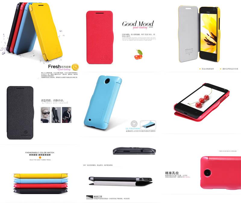 Nillkin Fresh Leather Case HTC Desire 300