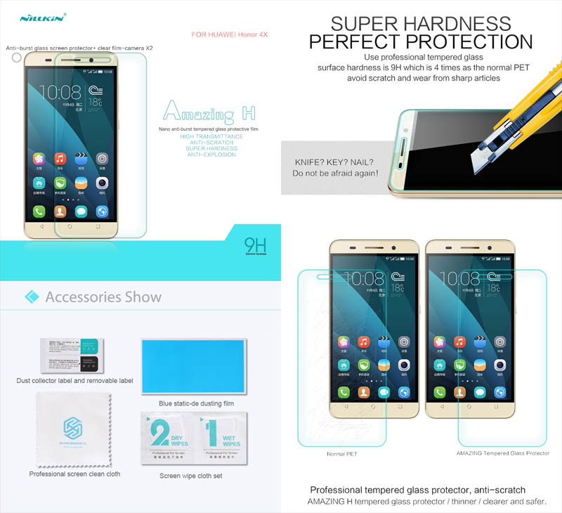 Nillkin Anti-Explosion H Glass Huawei Honor 4X