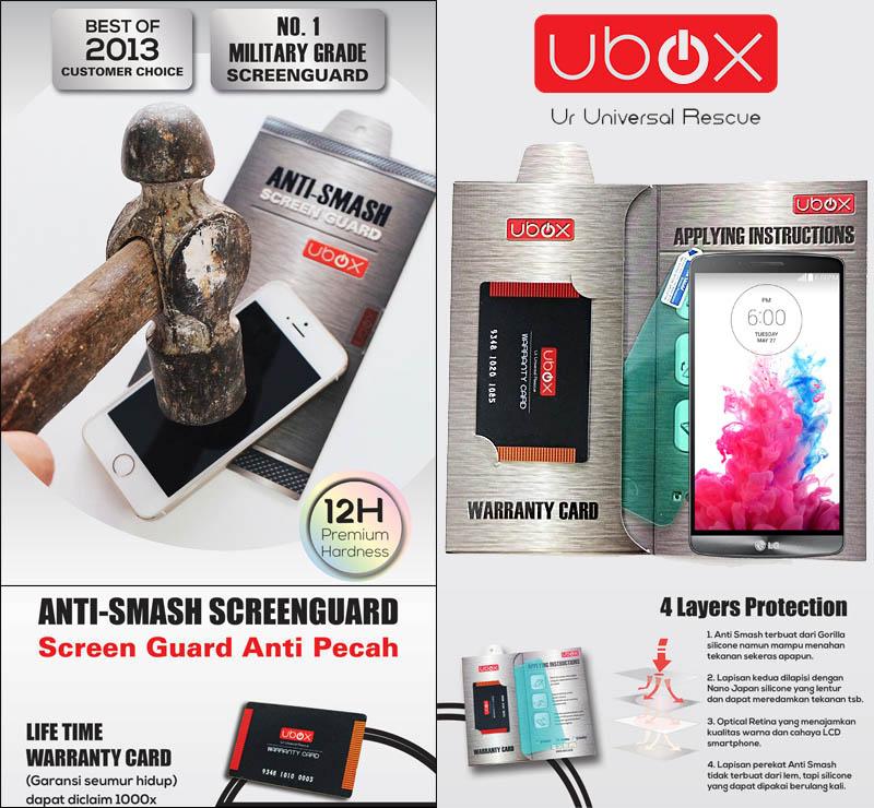 Ubox Anti-Smash 0.25mm LG G3 D850