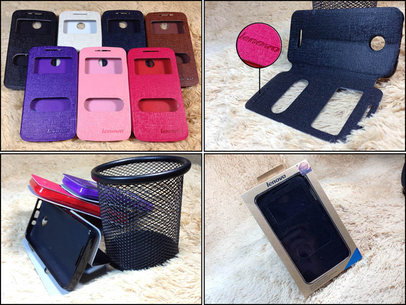 Stand Case 2-View Lenovo A390