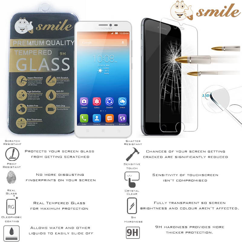 Smile HD Tempered Glass Lenovo S850