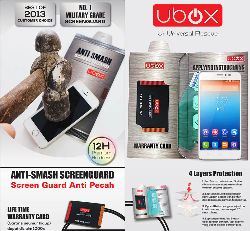 Ubox Anti-Smash 0.25mm Lenovo S850