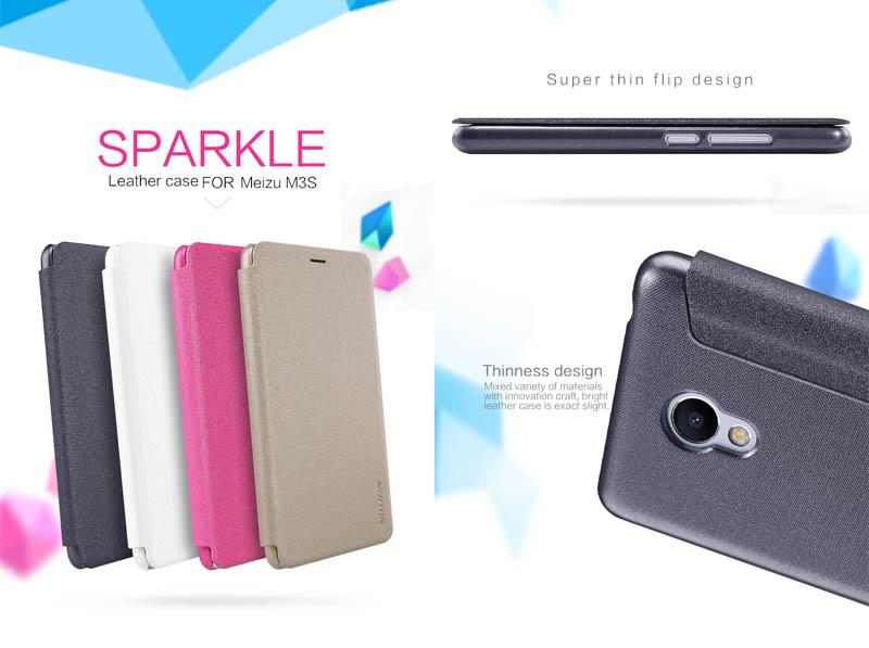 "Nillkin Sparkle Leather Case Meizu M3S. """