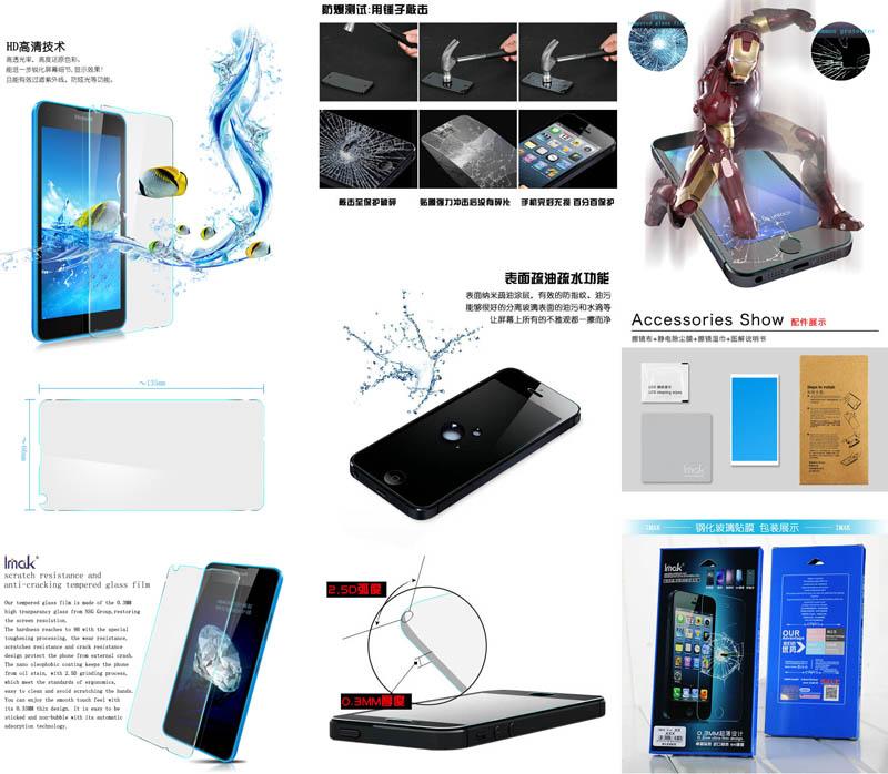 Imak Tempered Glass 2.5D Microsoft Lumia 640