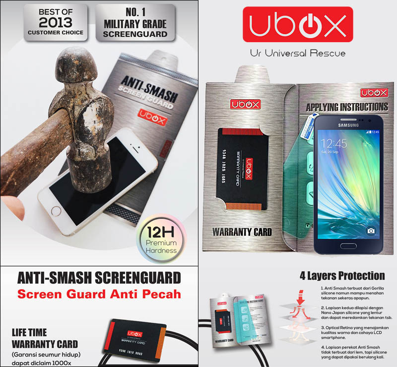 Ubox Anti-Smash 0.25mm Samsung Galaxy A3 a300