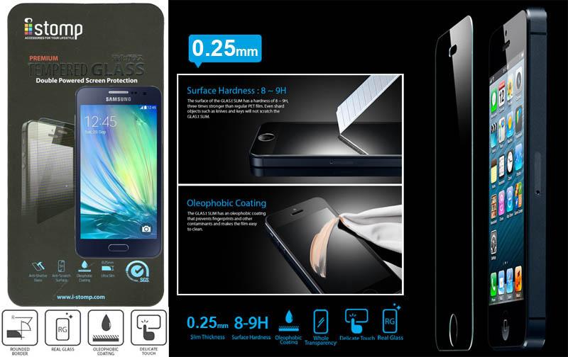 iStomp Slim Tempered Glass 0.25mm Samsung Galaxy A3 a300