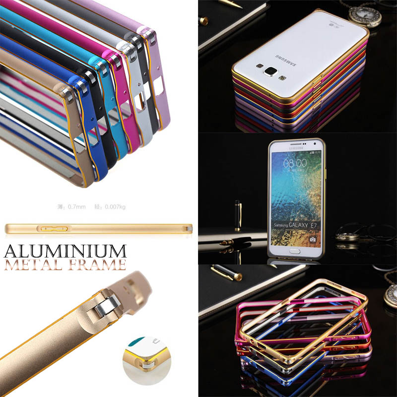 Slim Bumper Metal Case 0.7mm Samsung Galaxy E7 e700