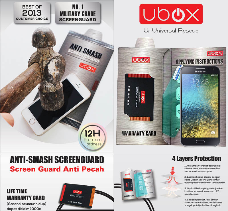 Ubox Anti-Smash 0.25mm Samsung Galaxy E7 e700