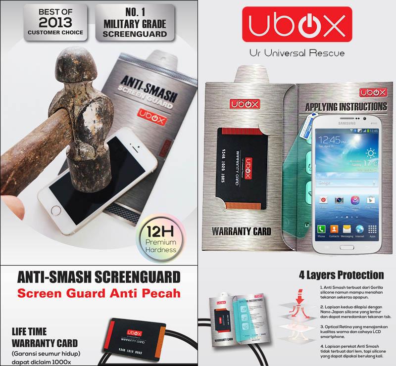Ubox Anti-Smash 0.25mm Samsung Galaxy Mega 5.8 i9150