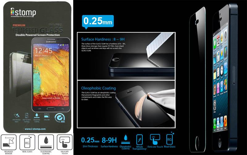 iStomp Slim Tempered Glass 0.25mm Samsung Galaxy Note 3 Neo N750
