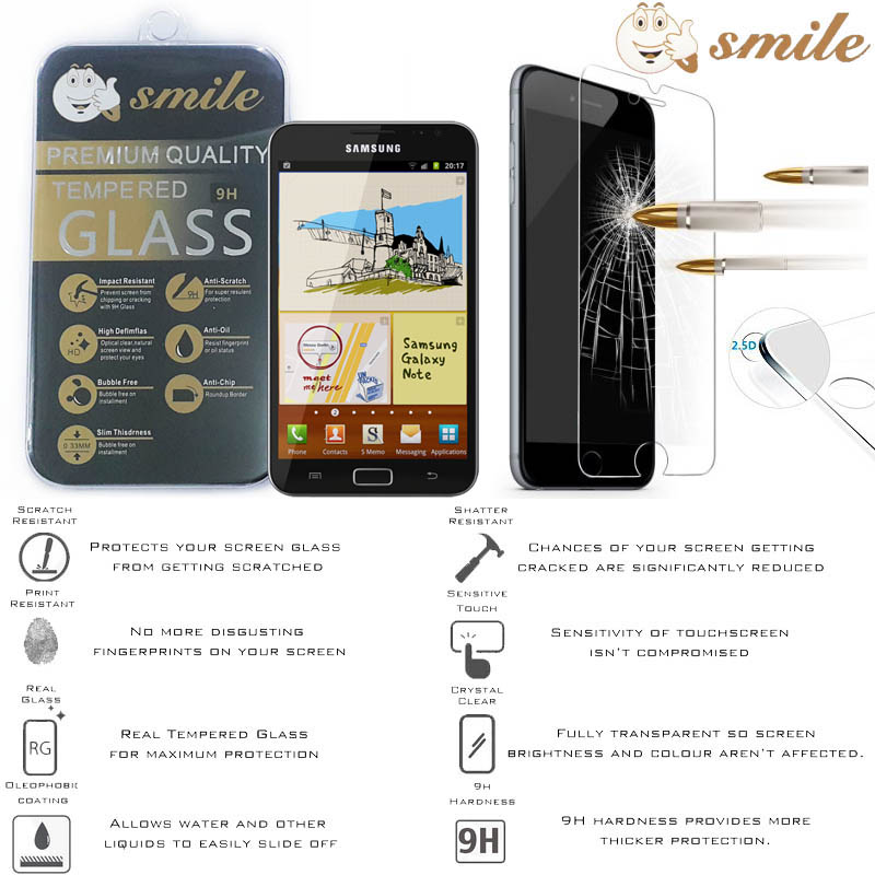 Smile HD Tempered Glass Samsung Galaxy Note N7000