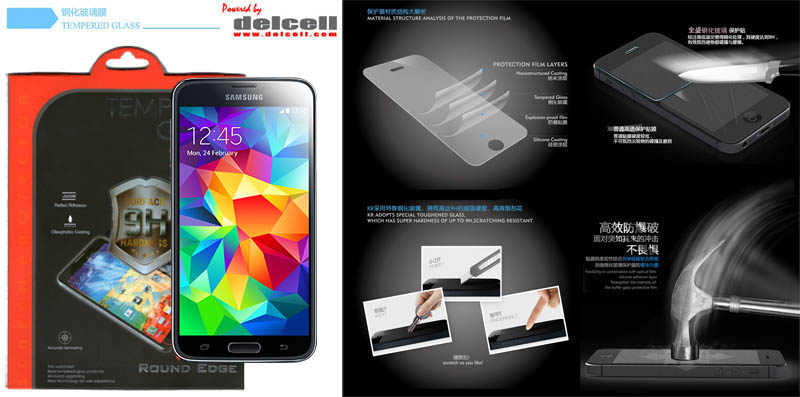 Tempered Glass by Delcell Samsung Galaxy S5 i9600