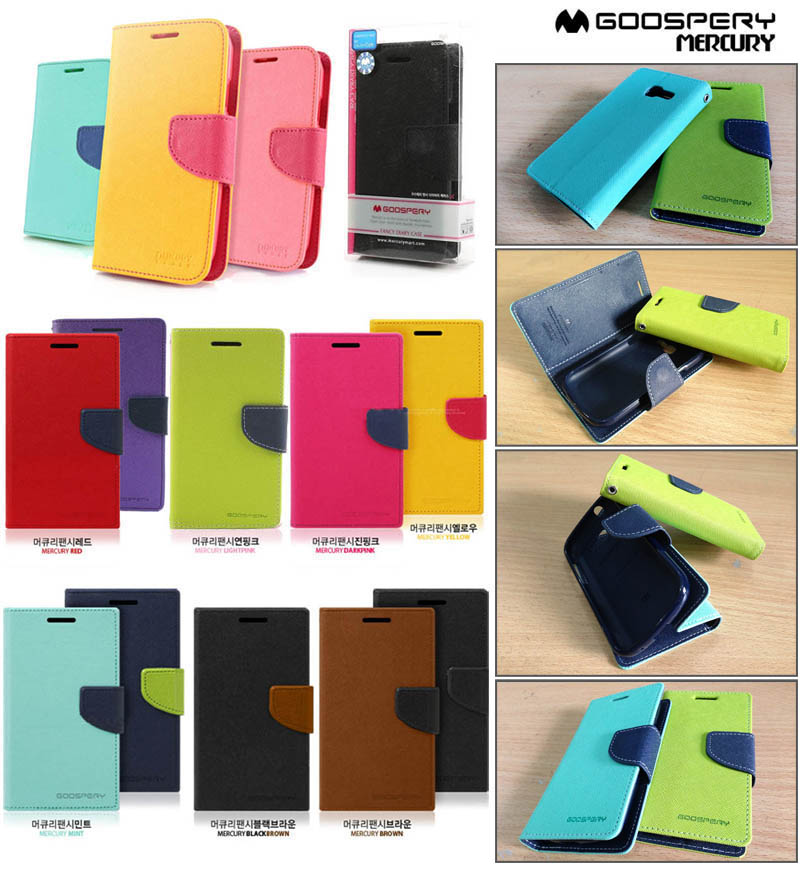 Mercury Fancy Diary Case Samsung Galaxy Trend - Trend Duos
