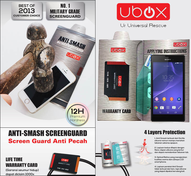 Ubox Anti-Smash 0.25mm Sony Xperia T3 D5103