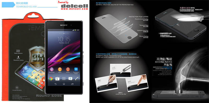Tempered Glass by Delcell Sony Xperia Z1 L39H