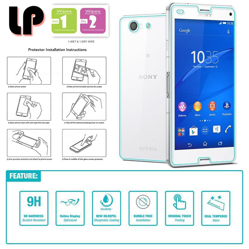 """LP Front Back Tempered Glass Sony Xperia Z3 Compact D5803. """""""