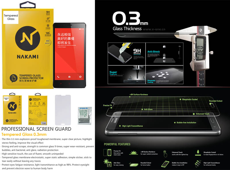 Nakami Tempered Glass Xiaomi RedMi - RedMi 1S
